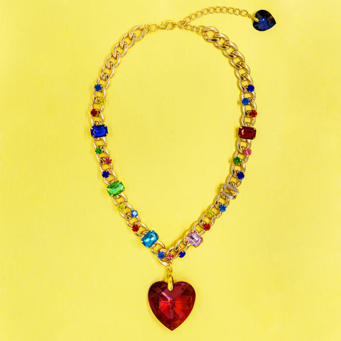 RAINBOW OF LOVE STATEMENT NECKLACE