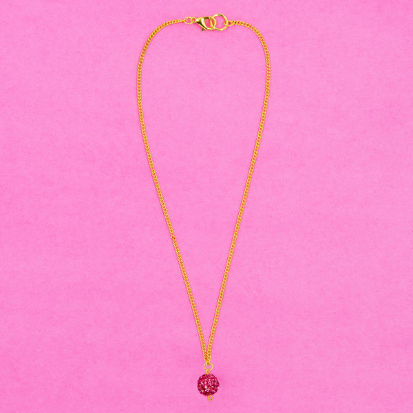 TWINKLING HEART STATEMENT NECKLACE (PINK)