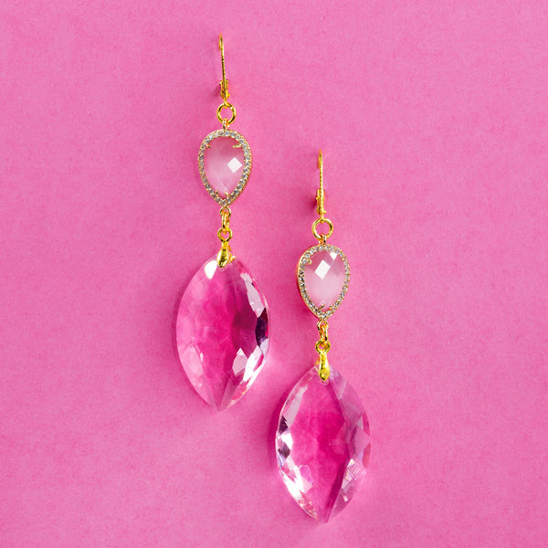 YOU MAKE ME BLUSH STATEMENT EARRINGS