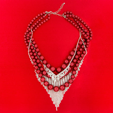 ULTIMATE LOVE STATEMENT NECKLACE (RED)