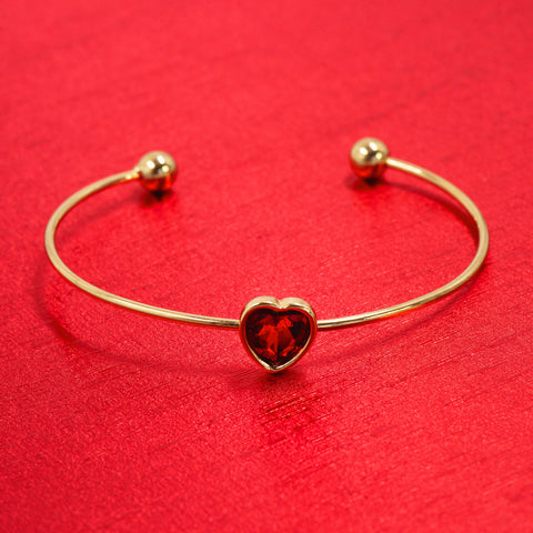 TOUCHED BY LOVE STATEMENT BRACELET (GOLD)