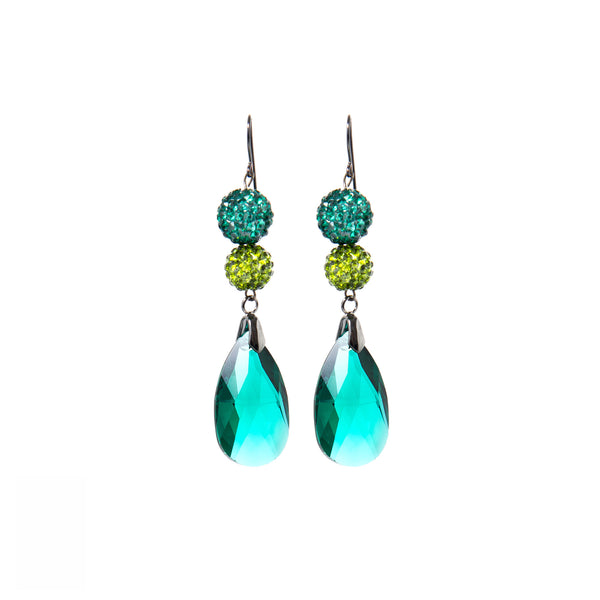 Emerald Debutante Statement Earrings