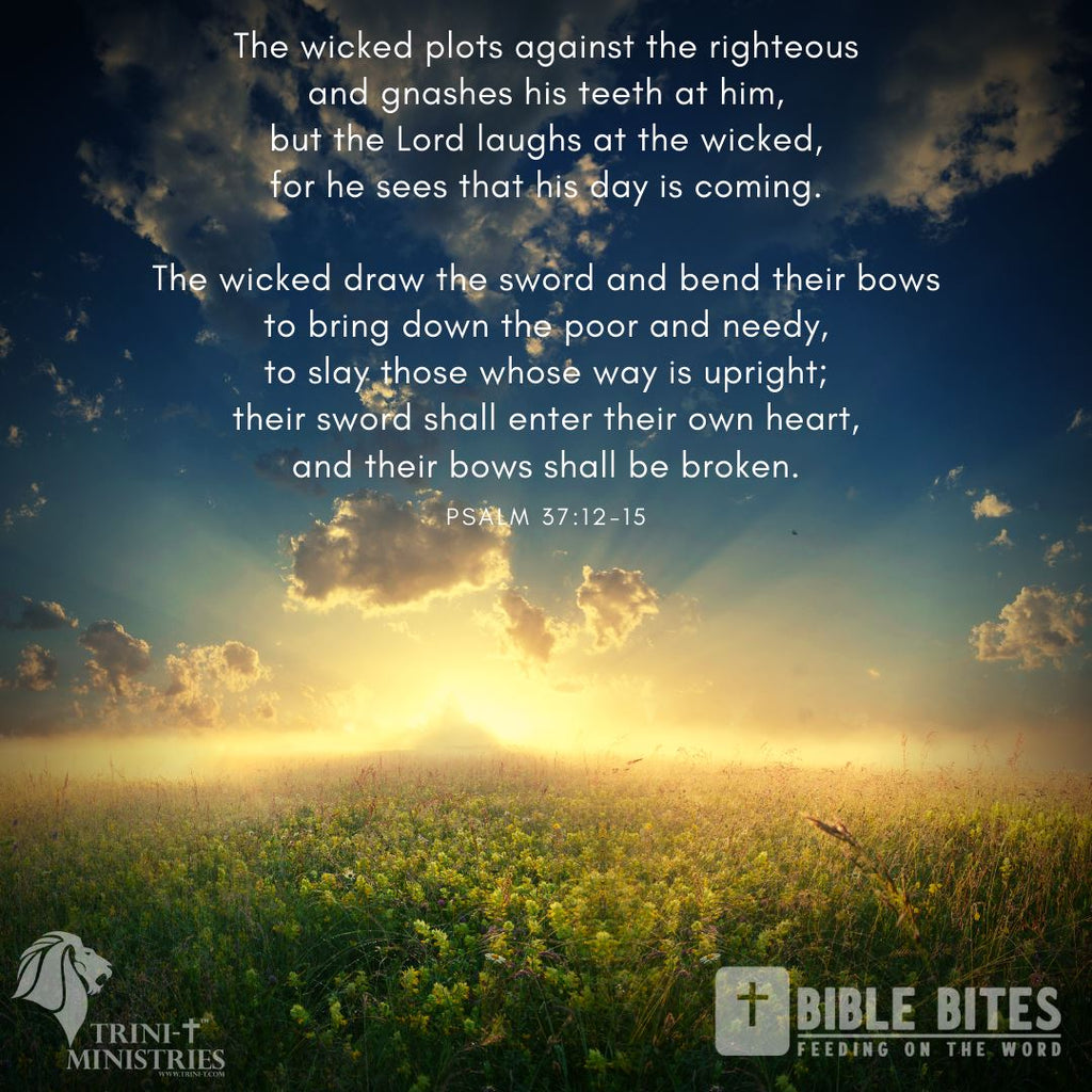 Bible Bites - Psalm 37:13-15
