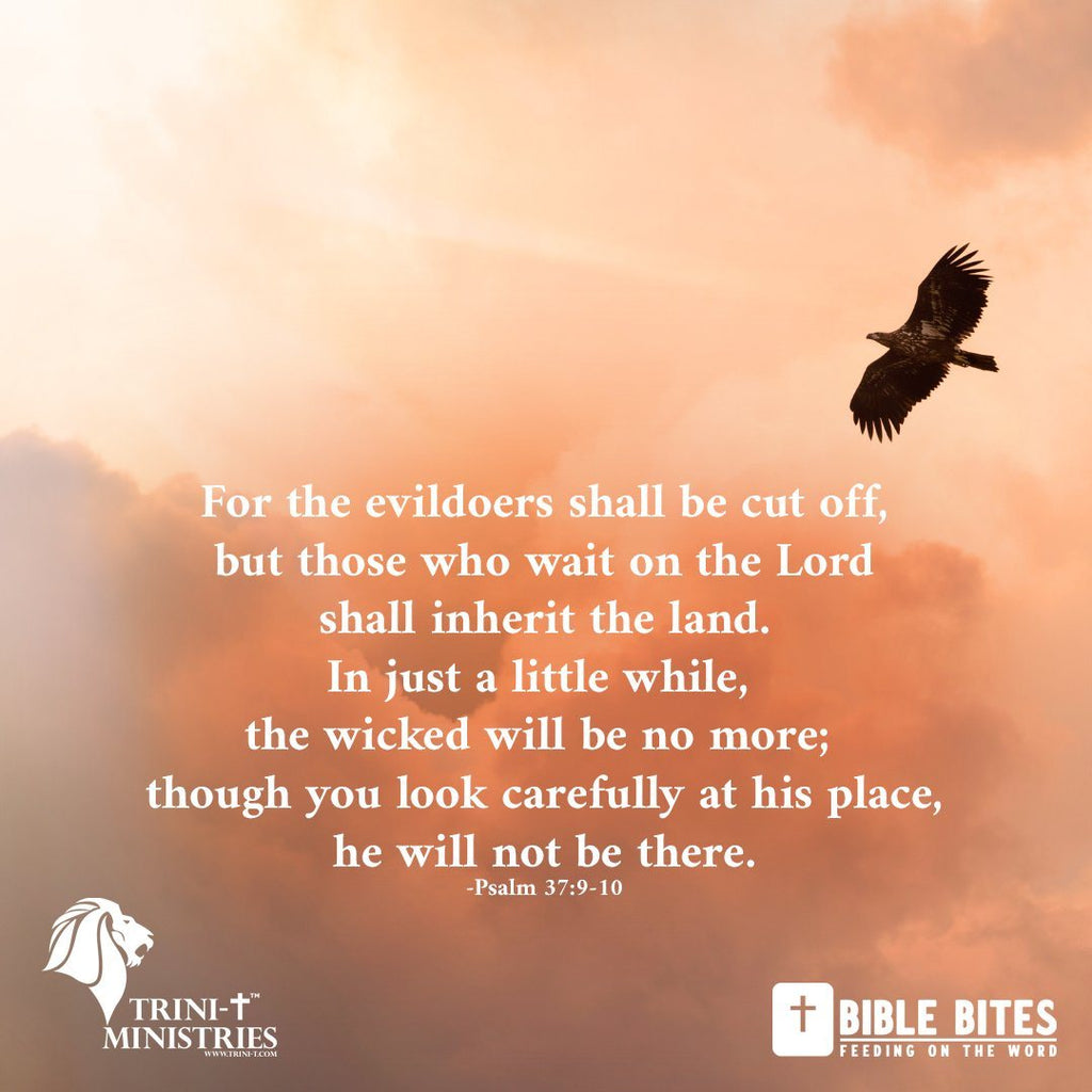 Bible Bites - Psalm 37:9-10