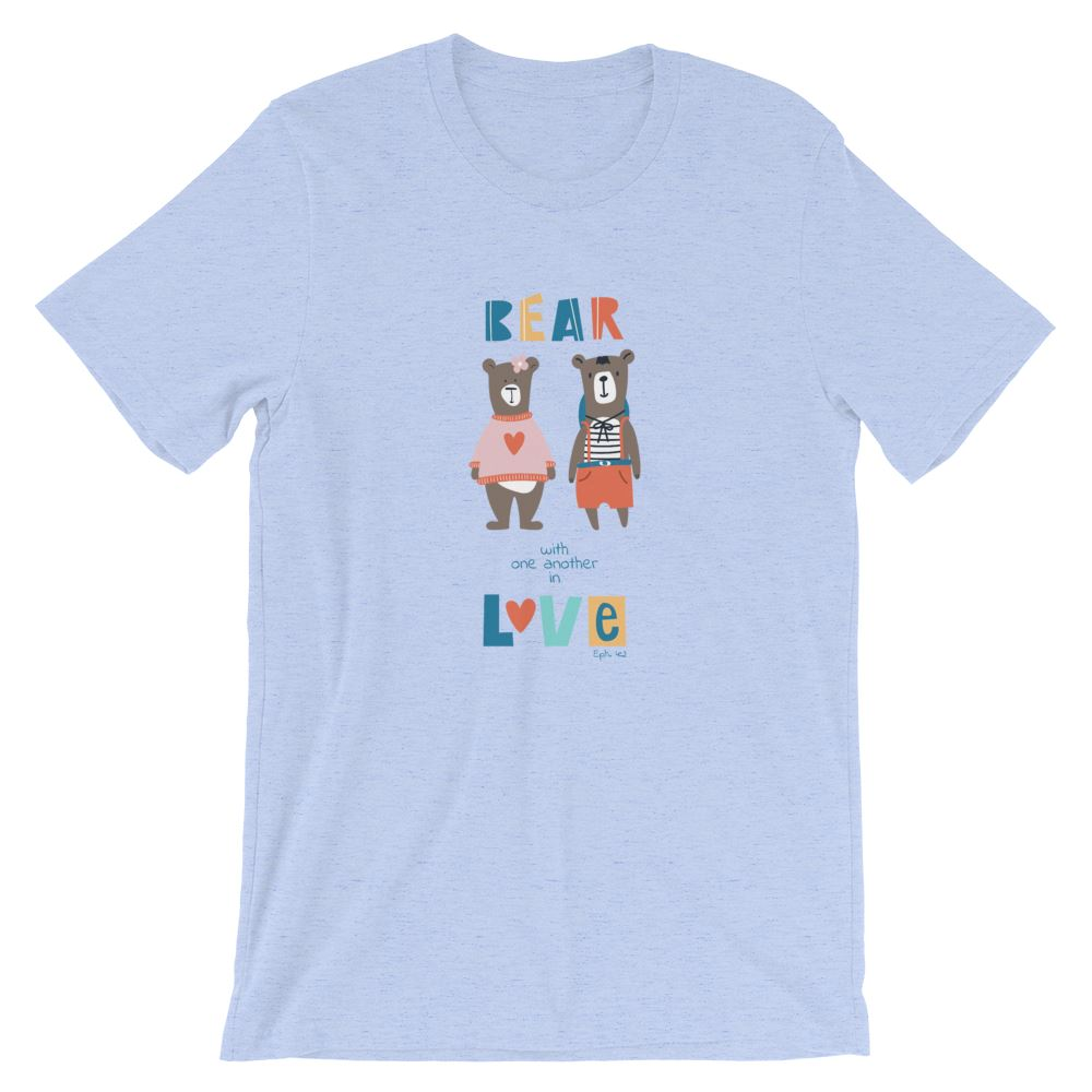 Bear With Each Other - Women's T Trini-T Ministry Heather Blue S