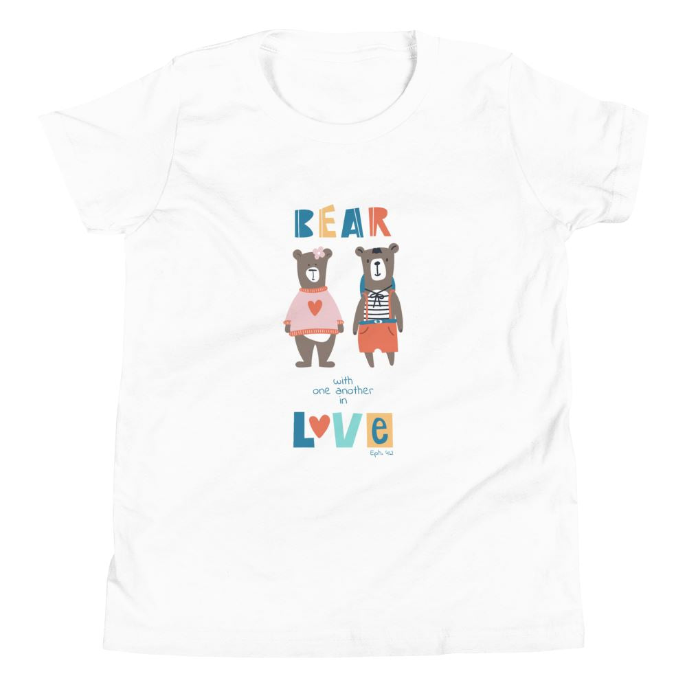 Bear With Each Other - Youth EU Trini-T Ministry White S