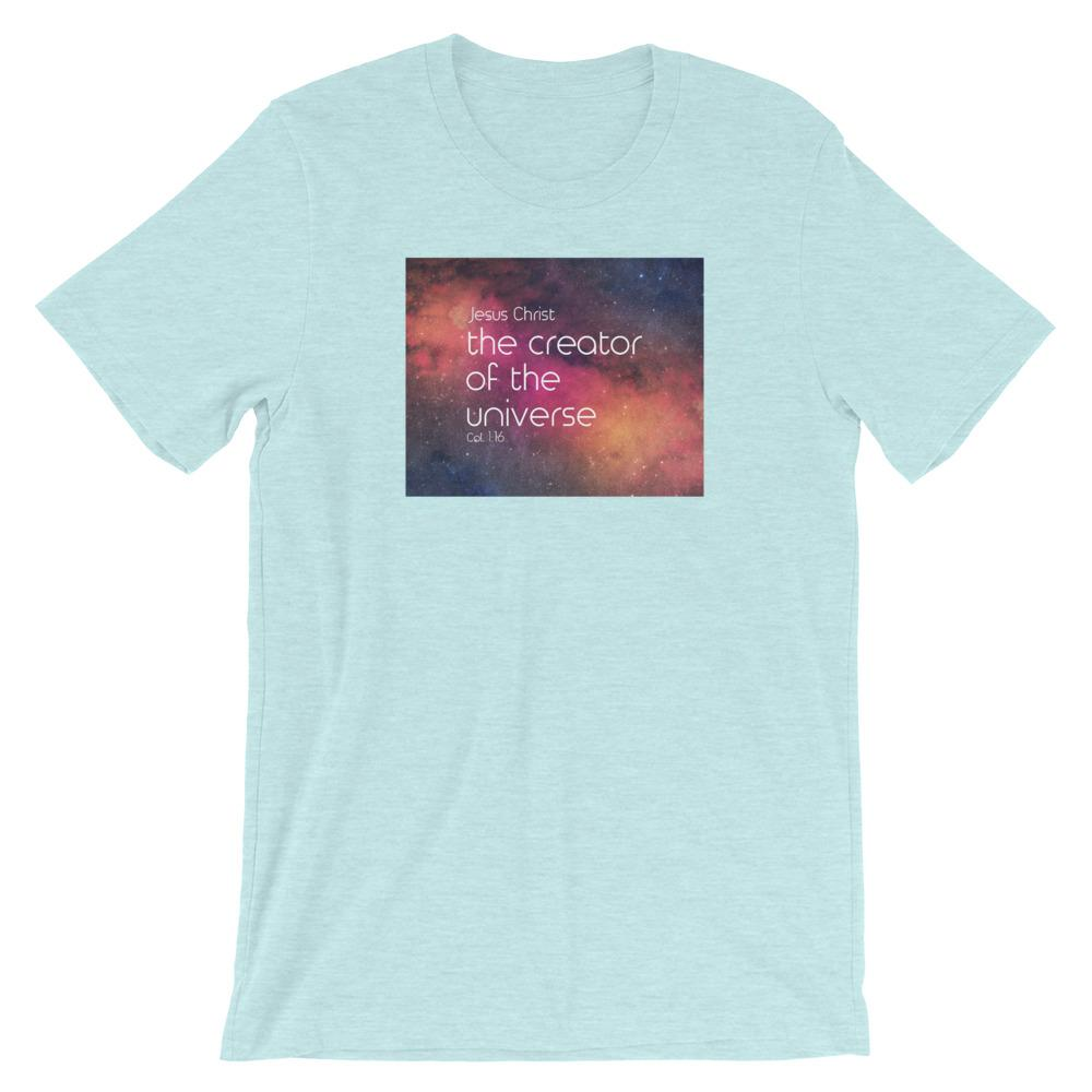 Creator of the Universe - Women's T Trini-T Ministry Heather Prism Ice Blue XS