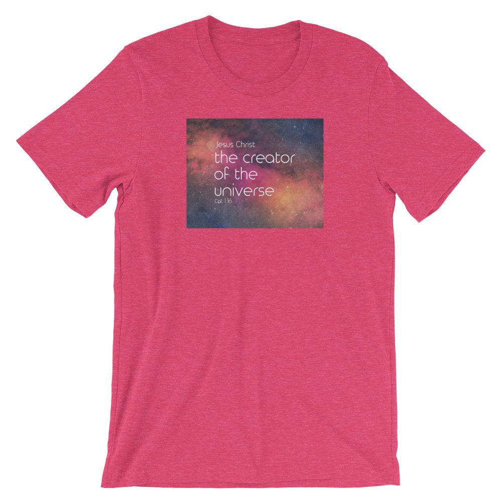 Creator of the Universe - Women's T Trini-T Ministry Heather Raspberry S