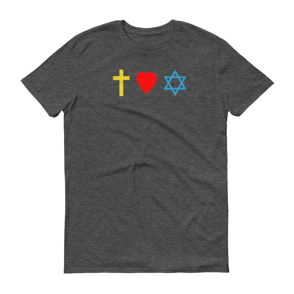 Cross, Heart, Star of David - Men's T Trini-T Ministry Heather Dark Grey S