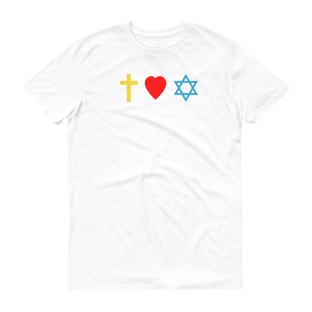 Cross, Heart, Star of David - Men's T Trini-T Ministry White S