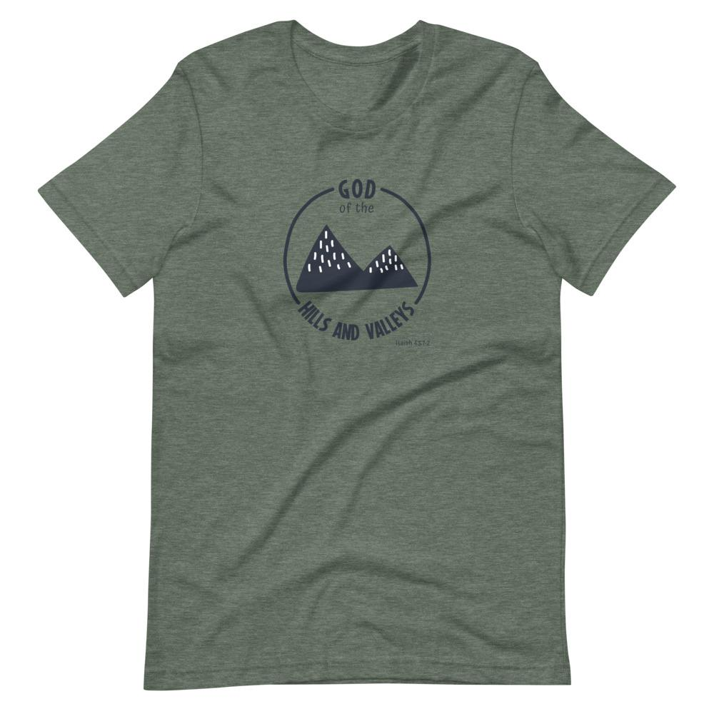 God of the Hills & Valleys - Women's T Trini-T Ministries Heather Forest S