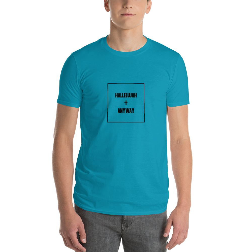 Hallelujah Anyway - Men's T Trini-T Ministry Caribbean Blue S