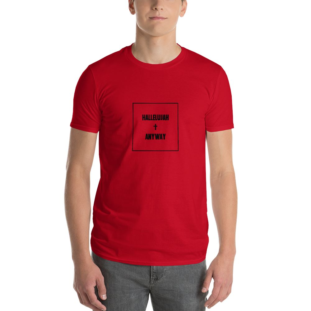 Hallelujah Anyway - Men's T Trini-T Ministry Red S