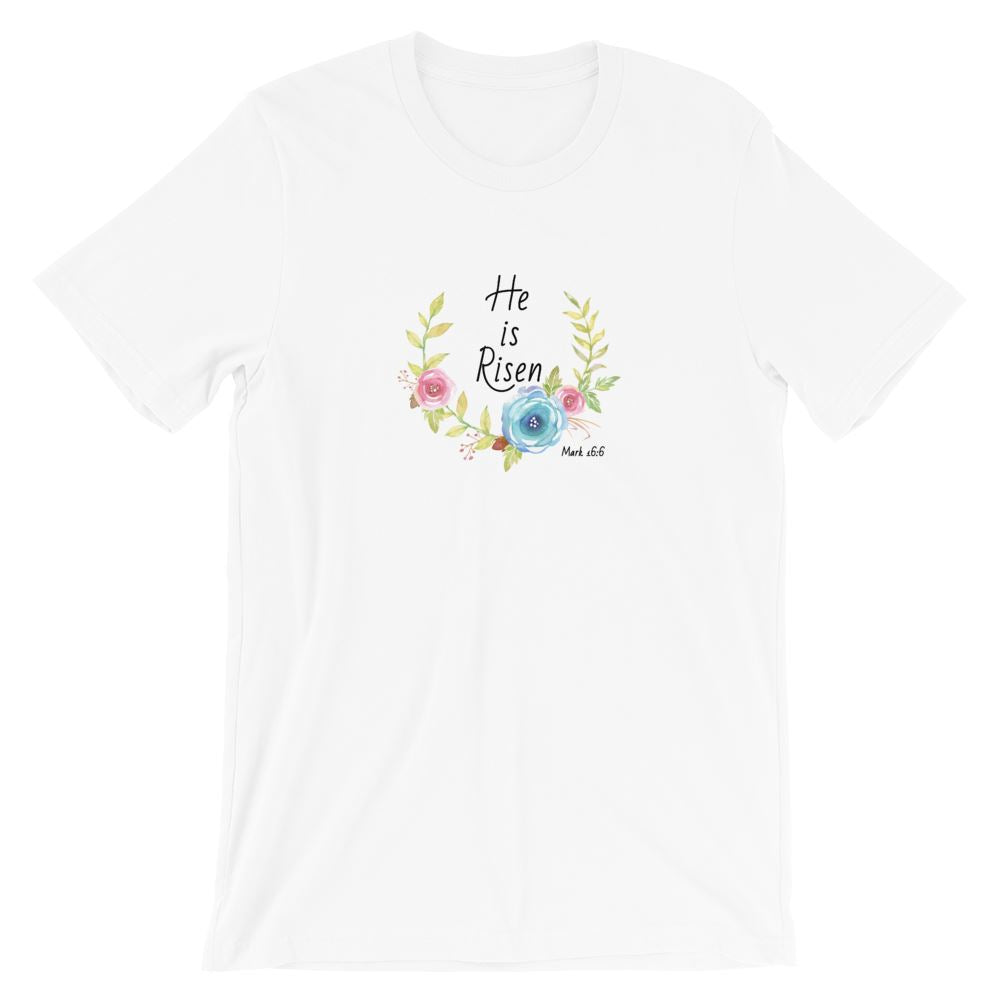 He Is Risen Flower - Women's T Trini-T Ministries XS