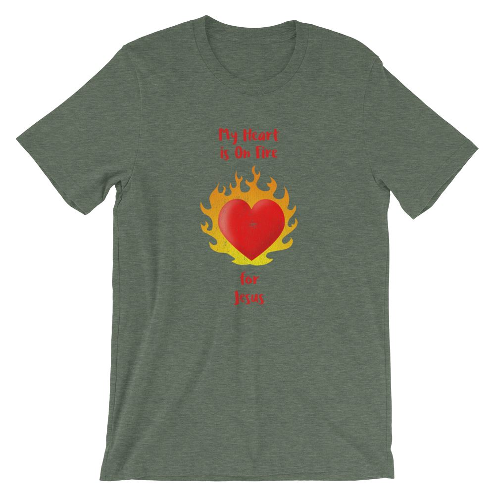 Heart On Fire - Women's T Trini-T Ministry Heather Forest S