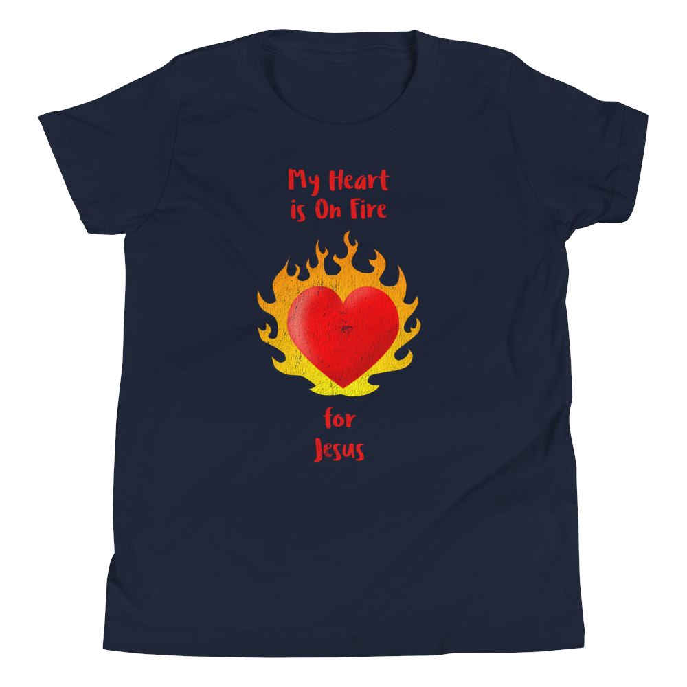 Heart On Fire - Youth US Trini-T Ministry Navy S
