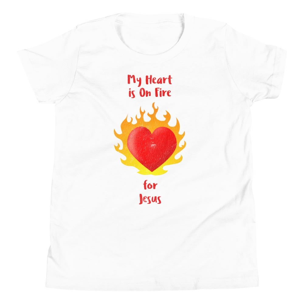 Heart On Fire - Youth US Trini-T Ministry White S