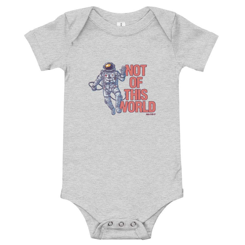 Not Of This World - Baby's One Piece Trini-T Ministries Athletic Heather 3-6m