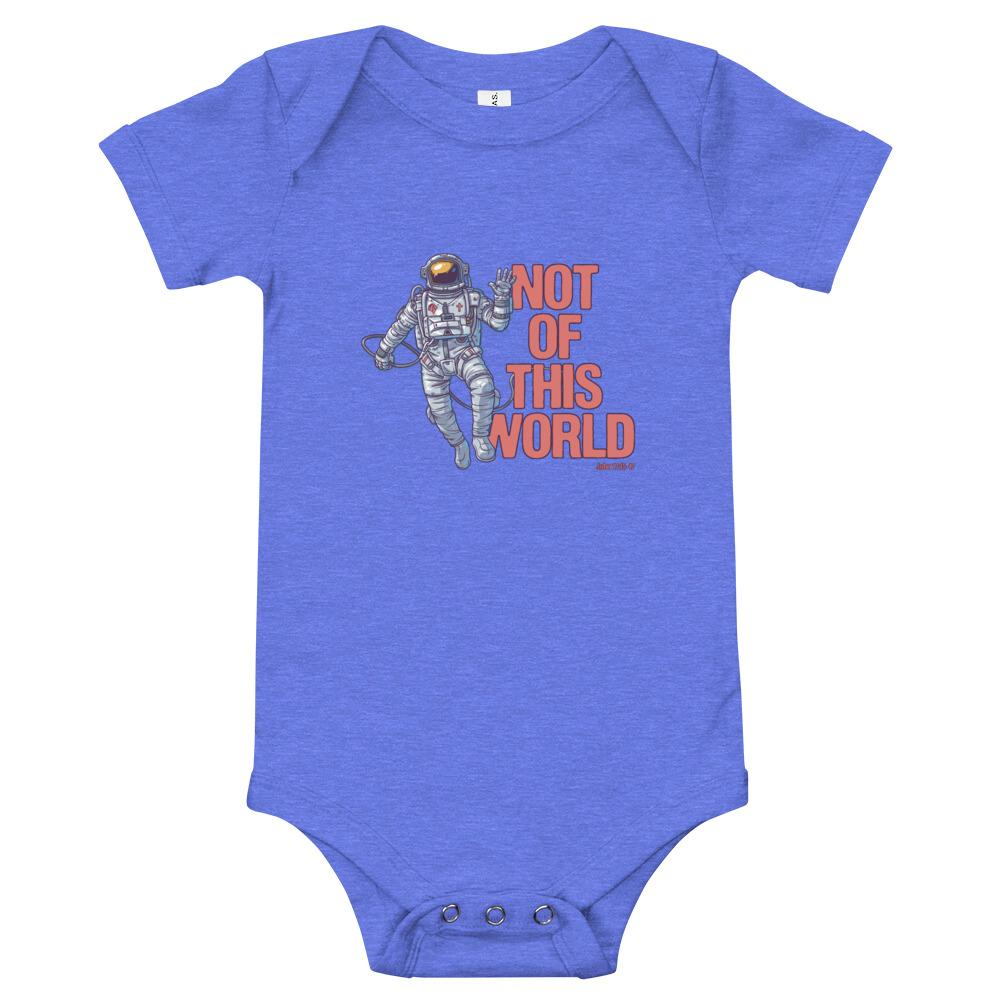 Not Of This World - Baby's One Piece Trini-T Ministries Heather Columbia Blue 3-6m