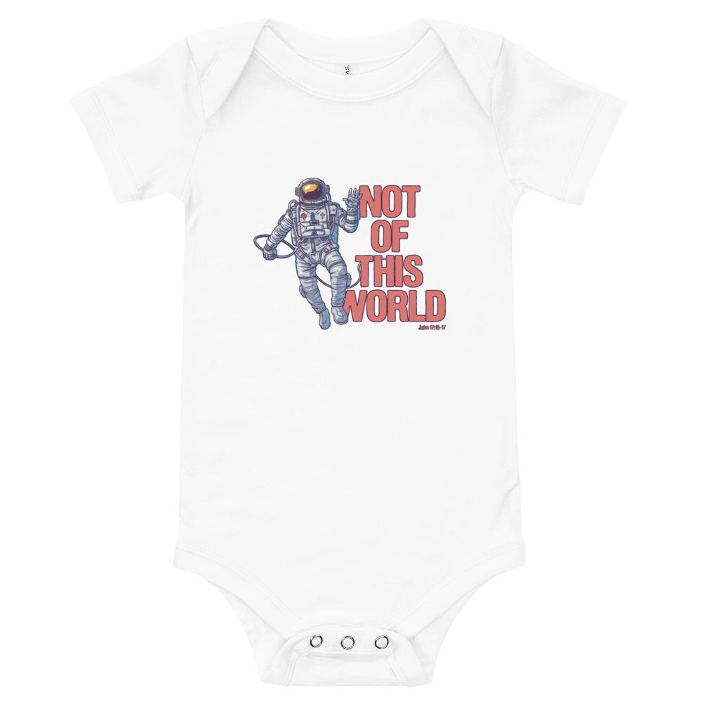 Not Of This World - Baby's One Piece Trini-T Ministries White 3-6m
