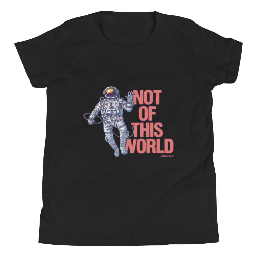 Not Of This World - Kid's T Trini-T Ministries Black S