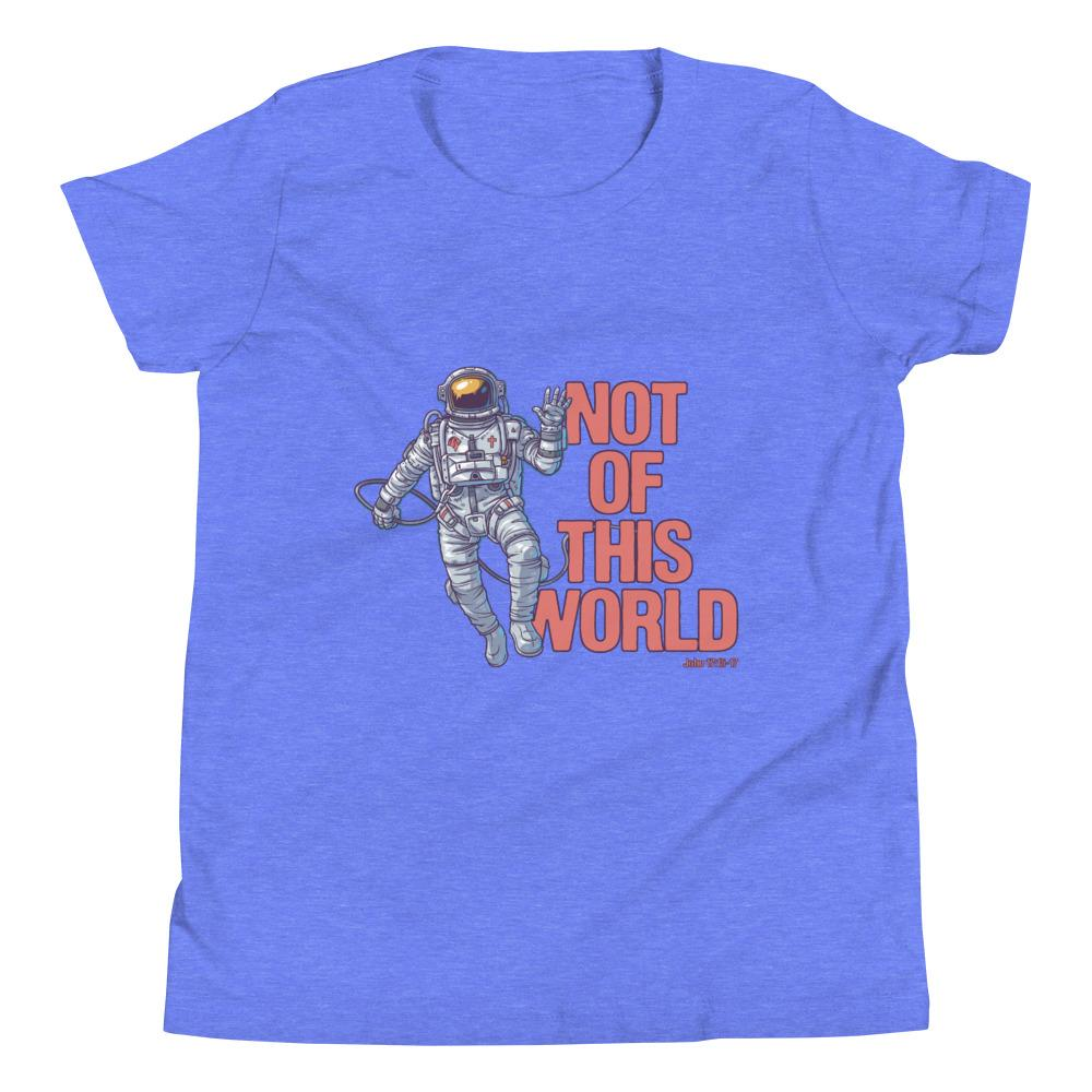 Not Of This World - Kid's T Trini-T Ministries Heather Columbia Blue S