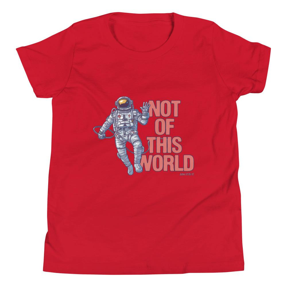Not Of This World - Kid's T Trini-T Ministries Red S