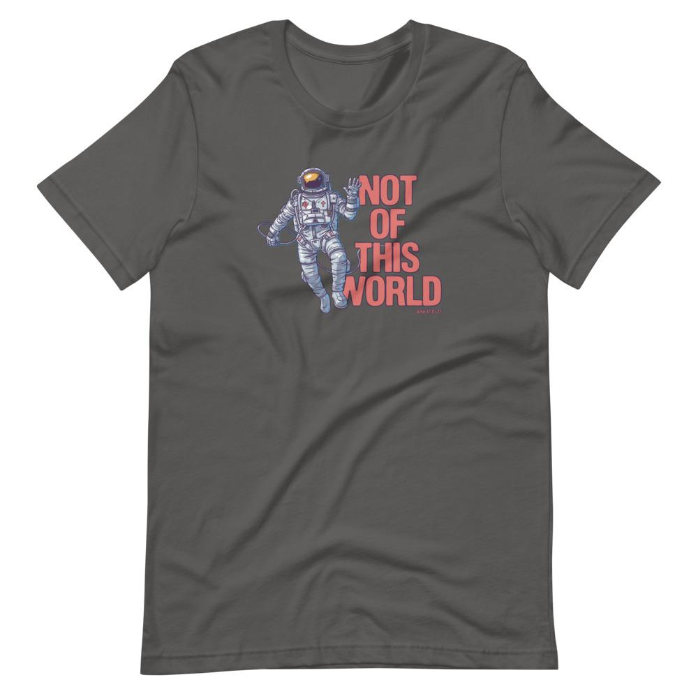Not Of This World - Men's T T-Shirt Trini-T Ministries Asphalt S