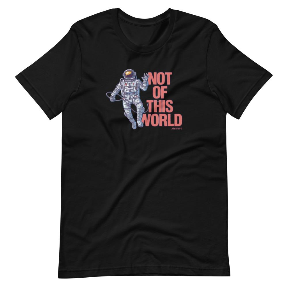 Not Of This World - Men's T T-Shirt Trini-T Ministries Black XS