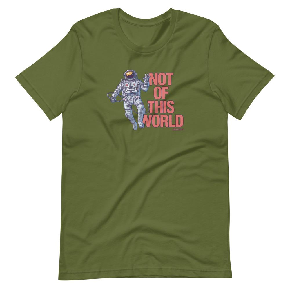 Not Of This World - Men's T T-Shirt Trini-T Ministries Olive S