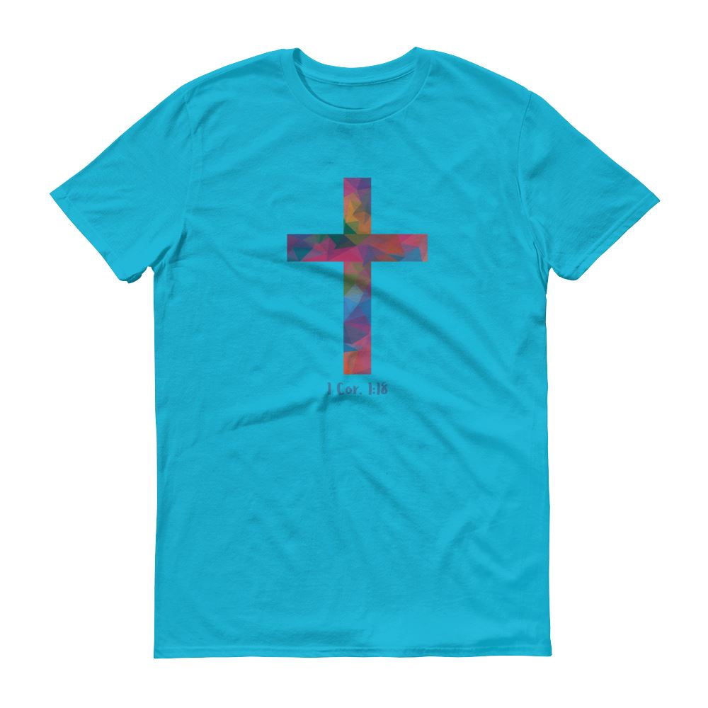 Polygonal Cross - Men's T Trini-T Ministry Caribbean Blue S