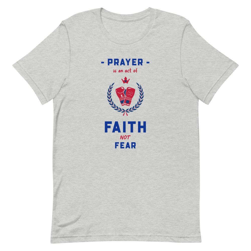 Prayer Is An Act Of Faith - Men's T Trini-T Ministries Athletic Heather S