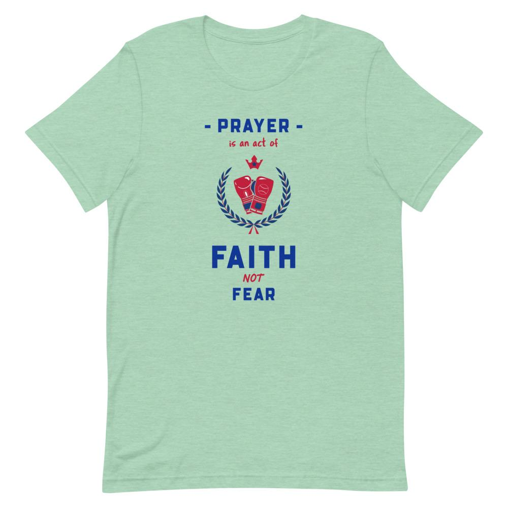 Prayer Is An Act Of Faith - Men's T Trini-T Ministries Heather Prism Mint XS