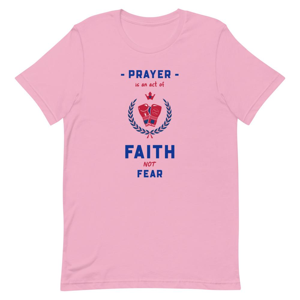 Prayer Is An Act Of Faith - Men's T Trini-T Ministries Lilac S