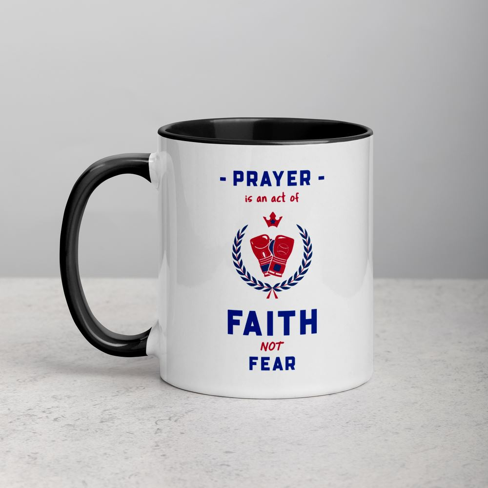 Prayer Is An Act Of Faith_Boxin - Mug Trini-T Ministries Black