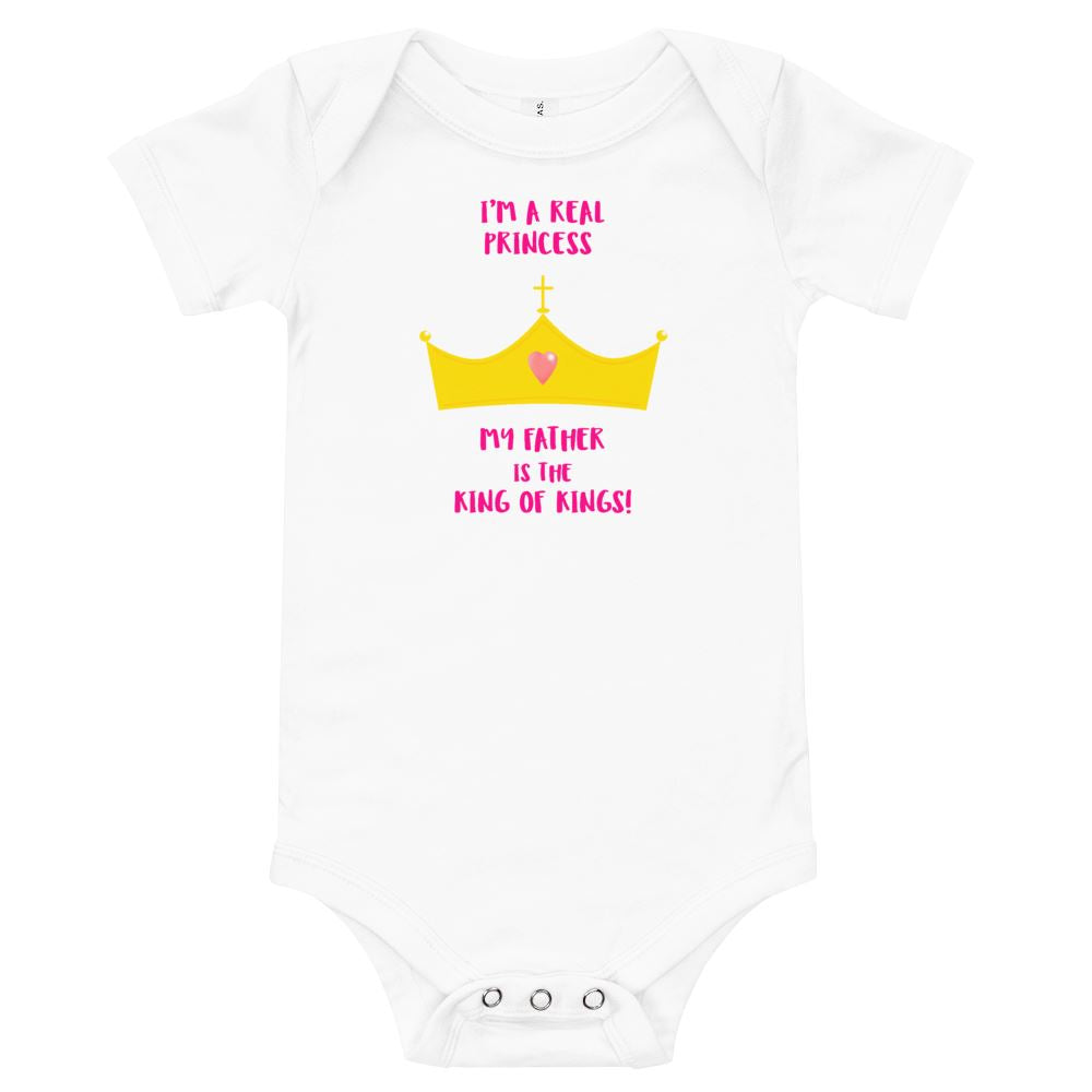 Real Princess - Baby's One Piece Trini-T Ministries White 3-6m
