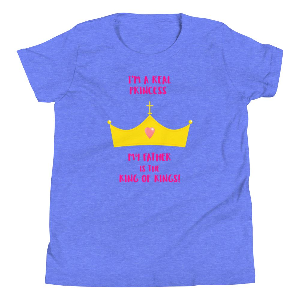 Real Princess - Youth US Trini-T Ministry Heather Columbia Blue S