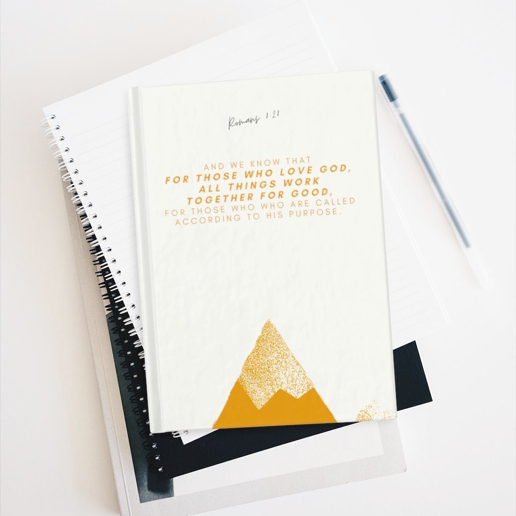 Romans 8:28 - Journal - Ruled Line Paper products Printify