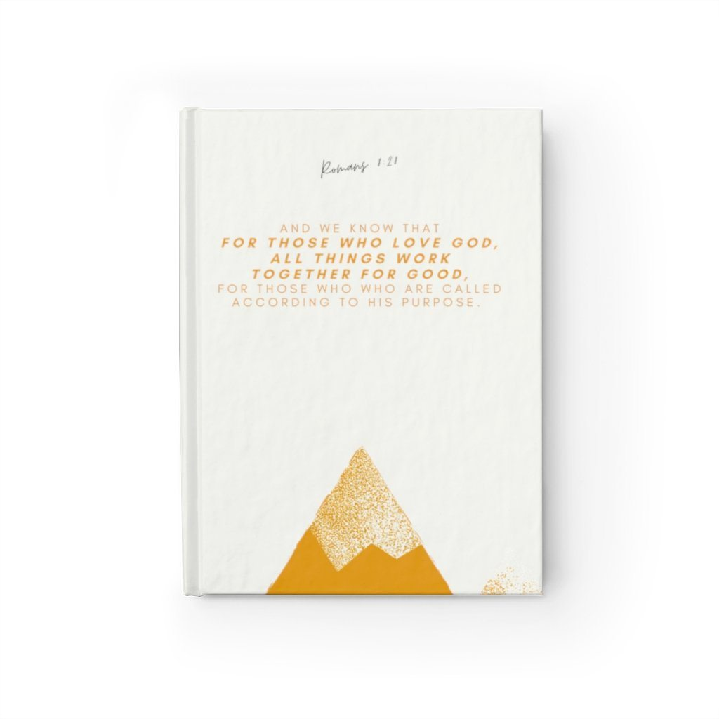 Romans 8:28 - Journal - Ruled Line Paper products Printify Journal