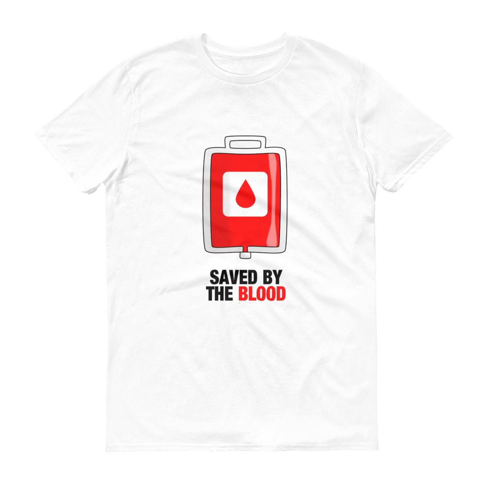 Saved By The Blood - Men's T Trini-T Ministry White S