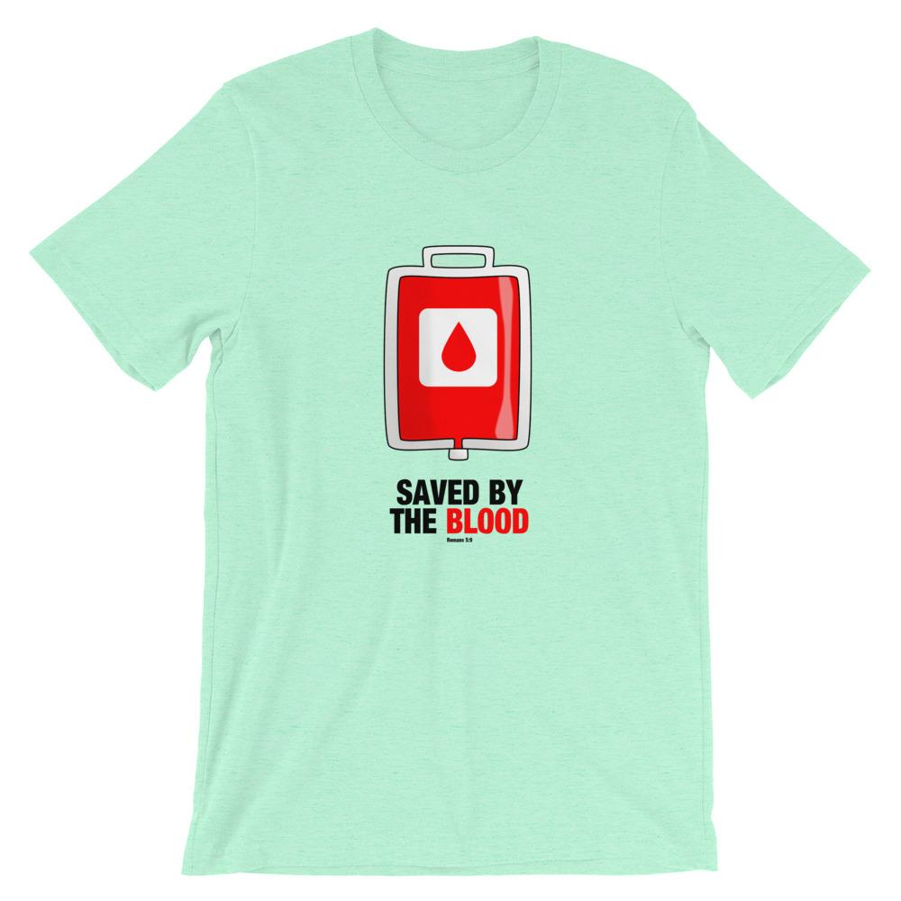 Saved By The Blood - Women's T Trini-T Ministry Heather Mint S