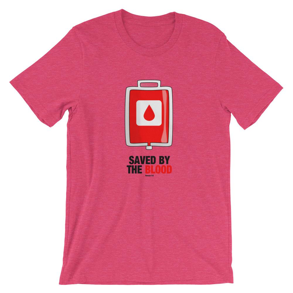Saved By The Blood - Women's T Trini-T Ministry Heather Raspberry S