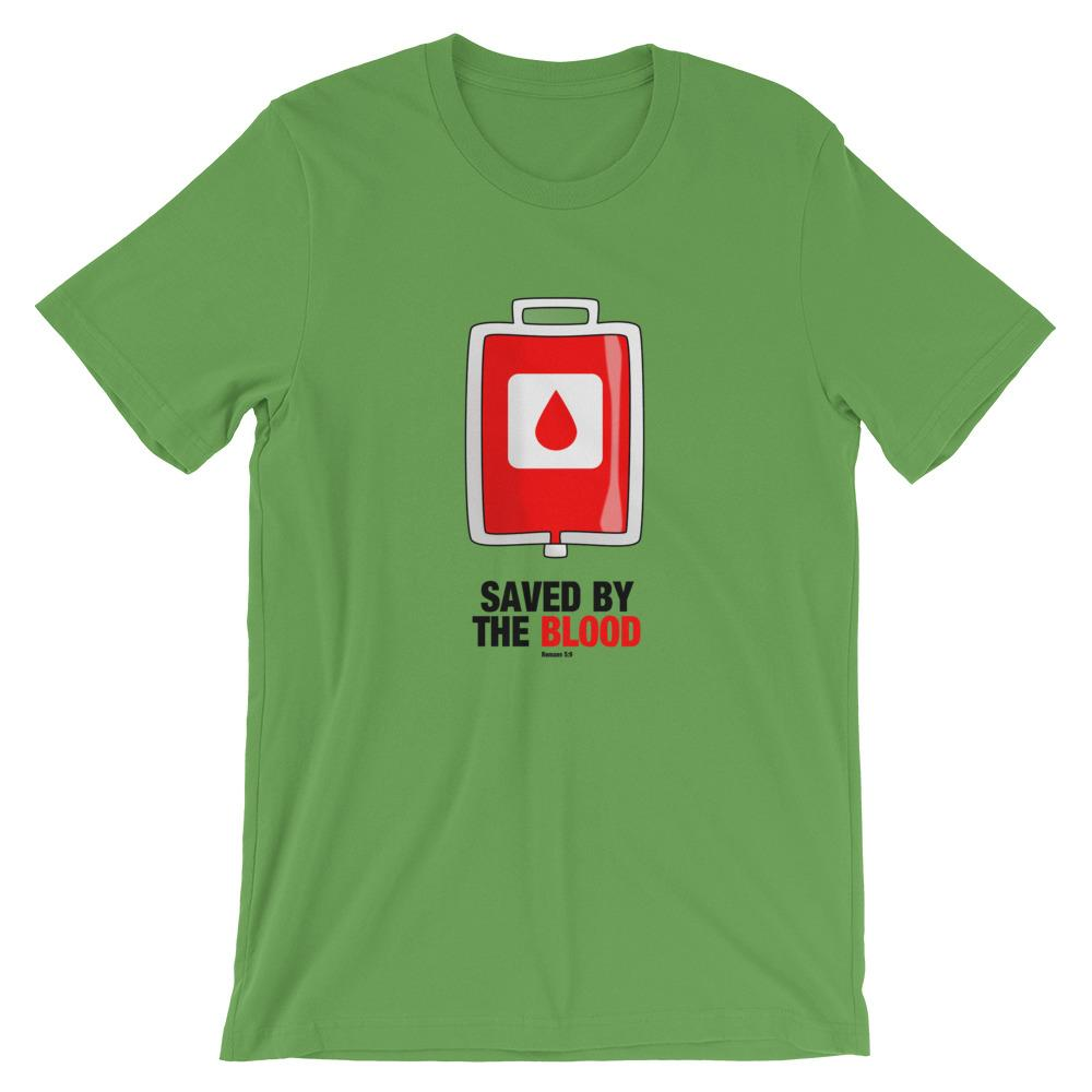 Saved By The Blood - Women's T Trini-T Ministry Leaf S