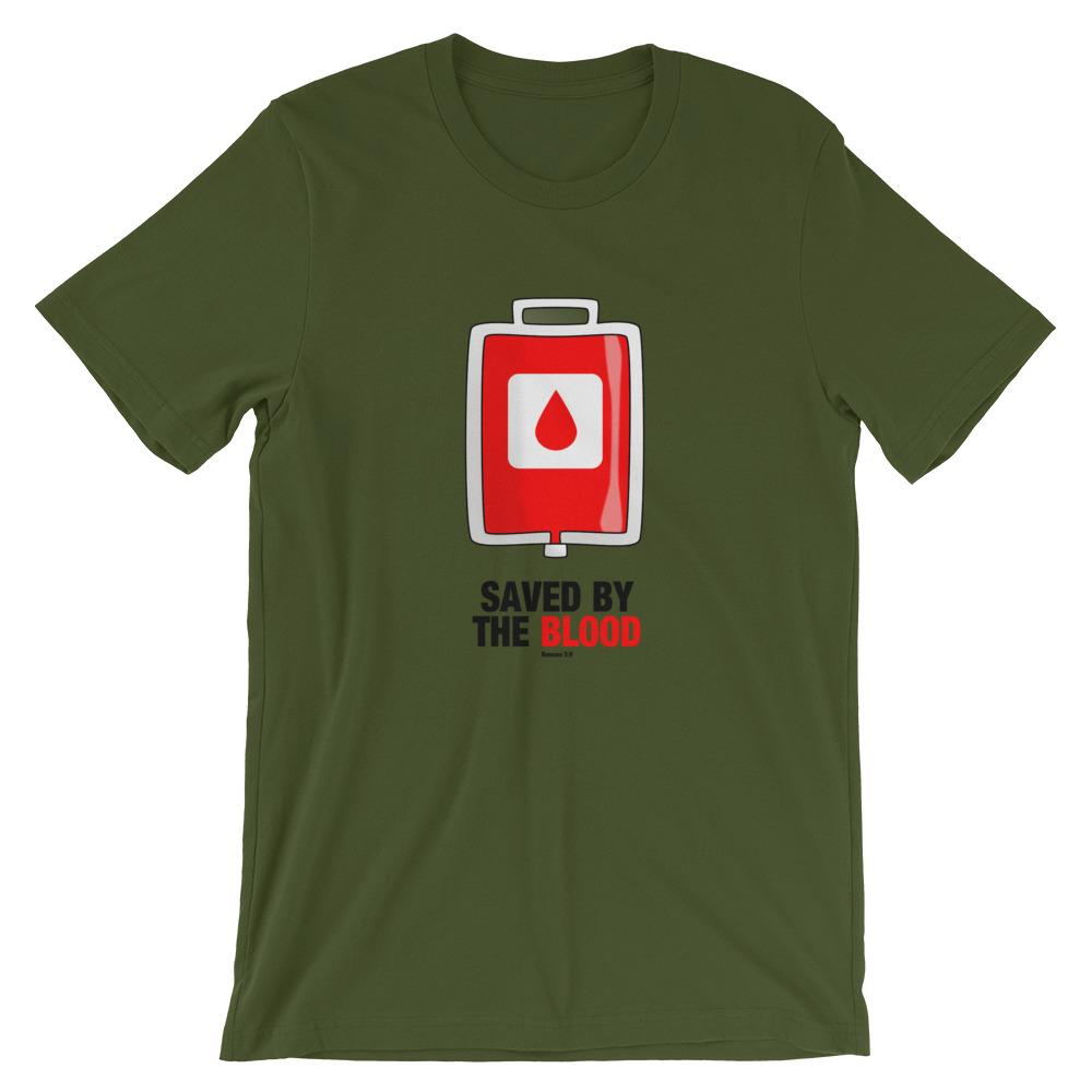 Saved By The Blood - Women's T Trini-T Ministry Olive S