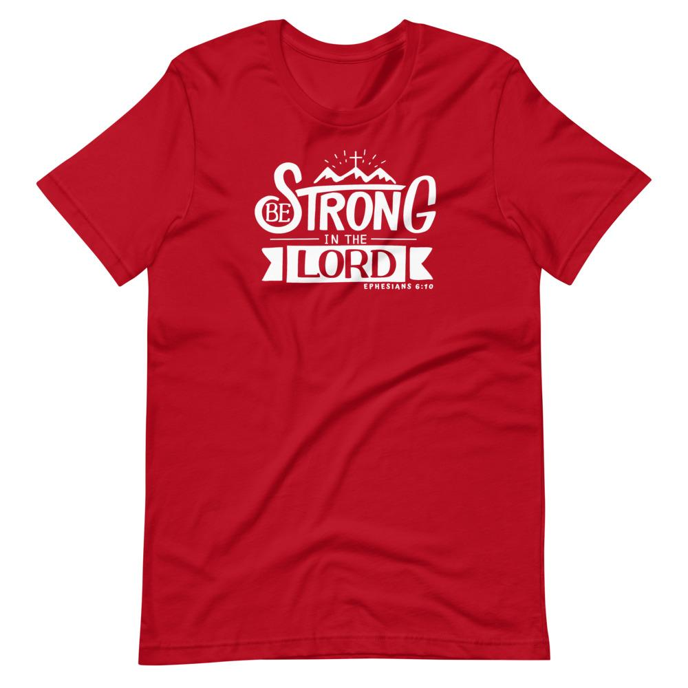 Trini-T - Be Strong In The Lord - Men's T T-Shirt Trini-T Ministries Red S