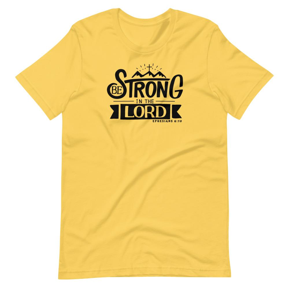 Trini-T - Be Strong In The Lord - Men's T T-Shirt Trini-T Ministries Yellow S