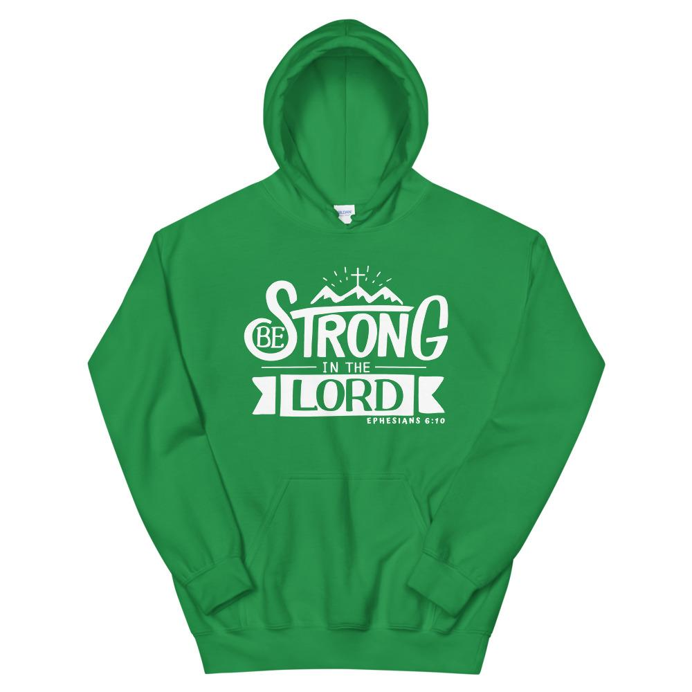 Trini-T - Be Strong In The Lord - Unisex Hoodie Hoodie Trini-T Ministries Irish Green S