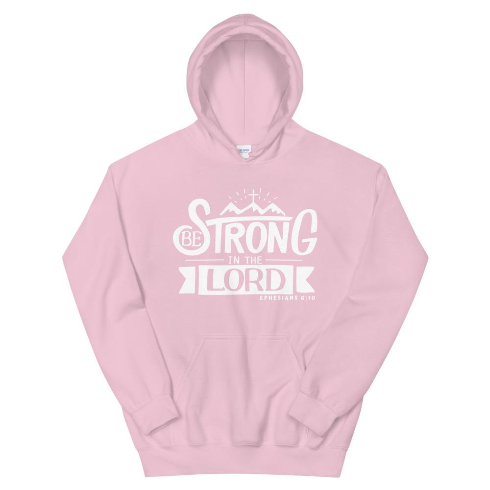 Trini-T - Be Strong In The Lord - Unisex Hoodie Hoodie Trini-T Ministries Light Pink S