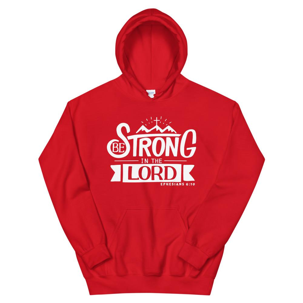 Trini-T - Be Strong In The Lord - Unisex Hoodie Hoodie Trini-T Ministries Red S