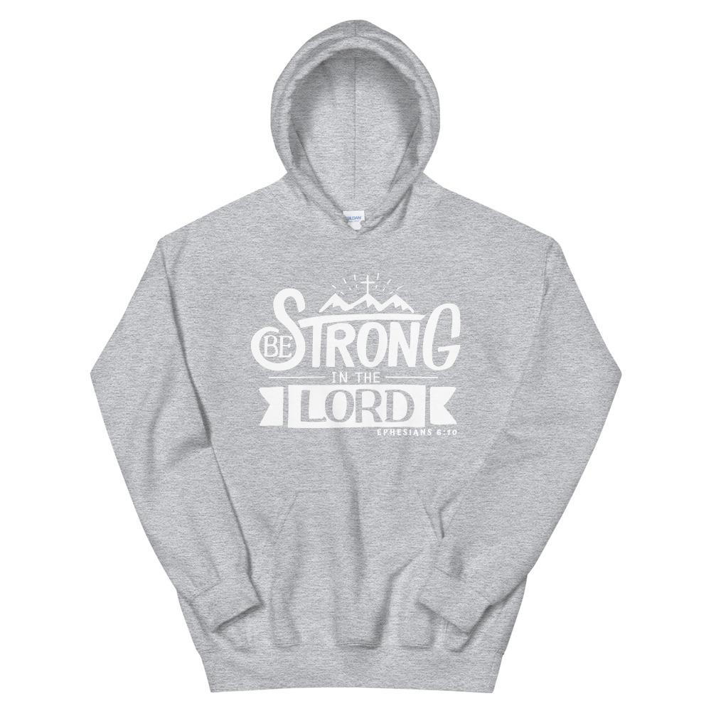Trini-T - Be Strong In The Lord - Unisex Hoodie Hoodie Trini-T Ministries Sport Grey S